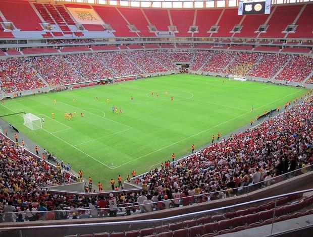 Inauguração do novo Estádio Mané Garrincha com a final do Candangão 2013, vencida pelo Brasiliense.